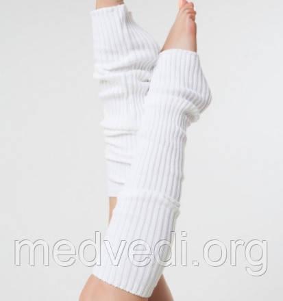 Белые гетры женские 40см, молочные гольфы