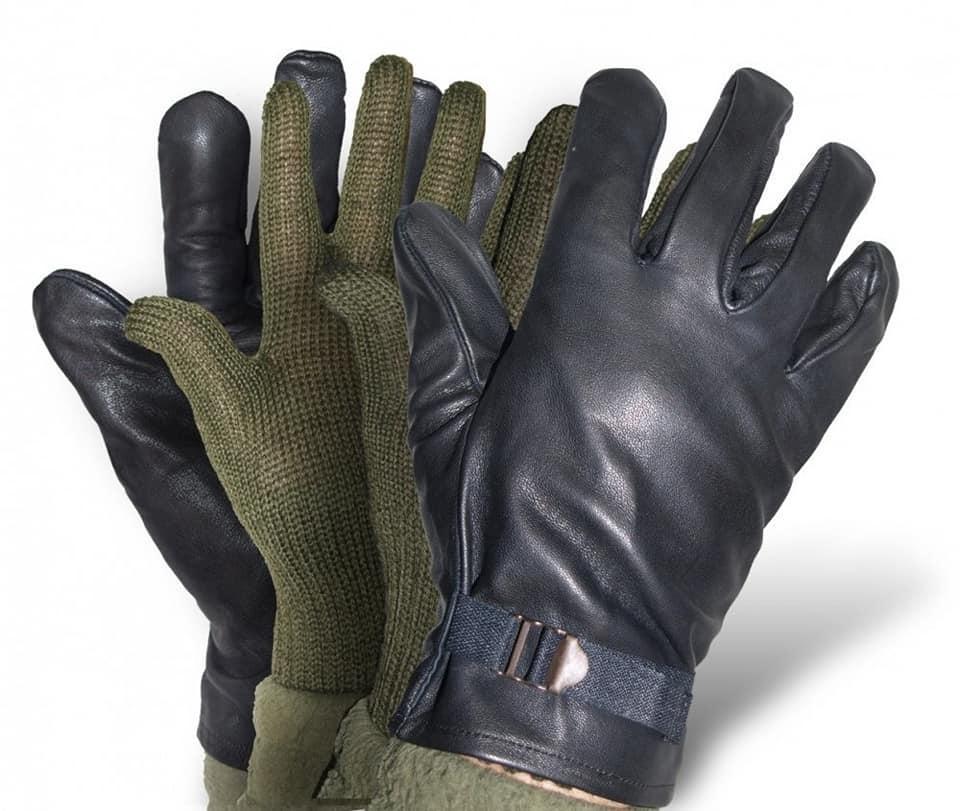 Оригинальные кожаные перчатки армии Бельгии 2в1