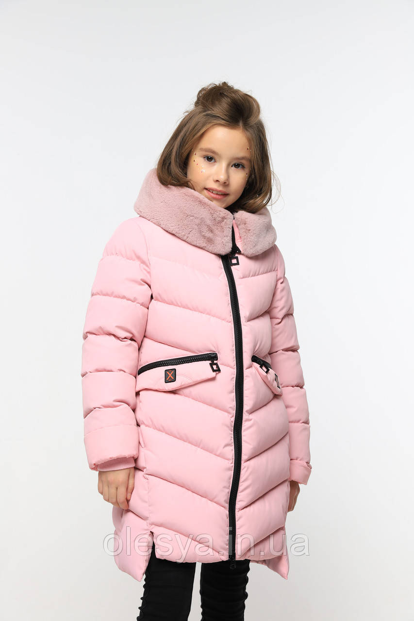 Пальто детское зимнее на девочку Афина тм Nui Very Размеры 116- 158