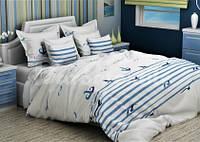 Комплект двухспальный GLux бязь набивная морская тематика
