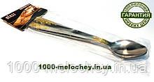 Ложка чайная с золотой гравировкой ( длинная ручка ) 20 см из нержавеющей стали, 6 штук в комплекте