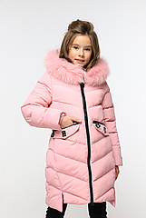 Пальто детское зимнее на девочку Афина 3 тм Nui Very Размеры 116- 158