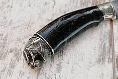 """Ніж ручної роботи """"Змія"""" з дамаської сталі, фото 3"""