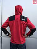 Мужская весенняя куртка The North Face красная1, фото 4