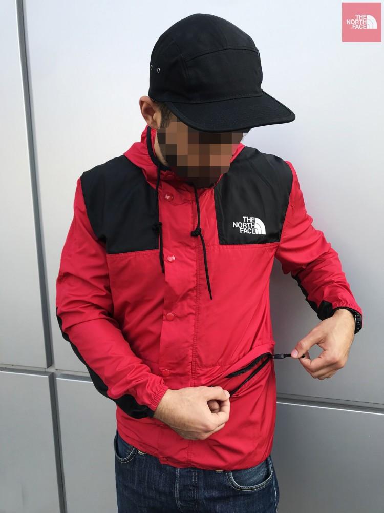 Мужская весенняя куртка The North Face красная1