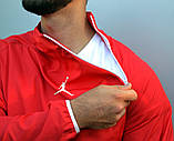 Мужской весенний анорак (ветровка) Jordan красный1, фото 2