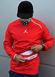 Мужской весенний анорак (ветровка) Jordan красный1, фото 5