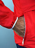 Мужской весенний анорак (ветровка) Jordan красный1, фото 7