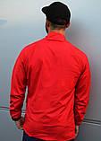 Мужской весенний анорак (ветровка) Jordan красный1, фото 8