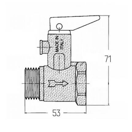 "Подрывной клапан Icma 3/4"" №GS09, фото 2"