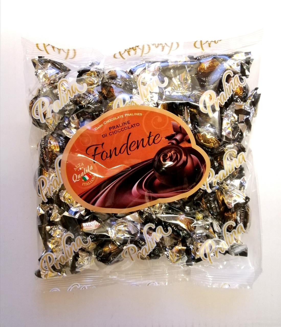 Шоколадные конфеты «Dolciaria Monardo Pralines» Fondente с пралине 450 грамм, Италия