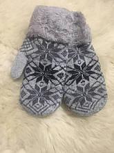 Вовняні рукавички з хутром.