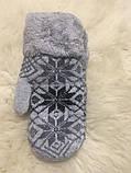 Вовняні рукавички з хутром., фото 5