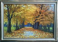 Живопись маслом пейзаж «Осенний парк» купить картину