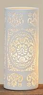 Лампа Шари белая керамика