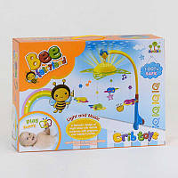"""Карусель с ночником-проектором SL 81001 А (12) """"Пчелки"""" колыбельные, проектор, на батарейках, в коробке"""