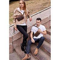 Кожаная поясная сумка Dropbag Mini темно-коричневая, фото 1