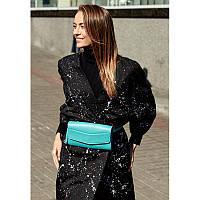Кожаная женская сумка Элис бирюзовая, фото 1
