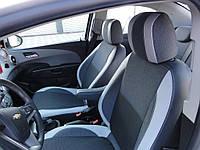Chevrolet Aveo T300 2011+ гг. Авточехлы (кожзам + ткань)