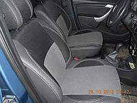 Dacia Logan II 2008-2013 гг. Авточехлы из экокожи и ткани
