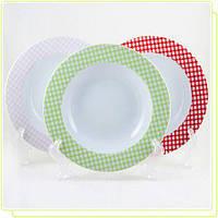 """Тарелка суповая Maestro MR-10009-03 21,25 см""""Клетка pink"""""""