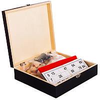 Лото настольная игра в деревянной коробке W9901
