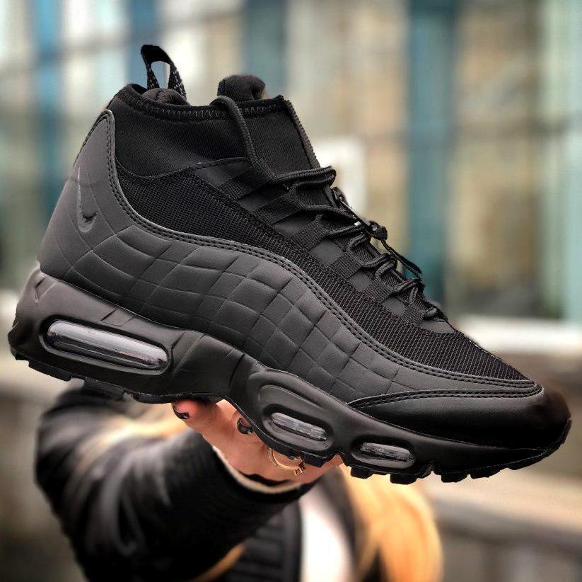 Serena Tristemente apagado  Мужские кроссовки Nike Air Max 95 Sneakerboot Black, найк аир макс 95,  чоловічі кросівки найк 95: купить в Украине и Киеве, онлайн магазин обуви -  Bootlords