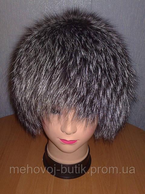 вязаная шапка из меха чернобурки модель лолита цена 1 650 грн