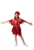 Детский карнавальный костюм для девочки «Звезда» 110-125 см, красный, фото 1