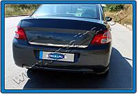 Citroen C-Elysee 2012+ гг. Накладки на кромку багажника (нерж.)