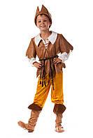 Детский карнавальный костюм для мальчика «Робин Гуд» 130-140 см, коричневый, фото 1