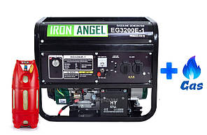 Двухтопливный генератор Iron Angel EG3200e LPG