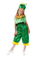 Детский карнавальный костюм для детей «Огурчик» 110-120 см, зеленый