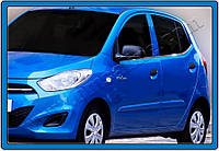 Hyundai I-10 2010-2013 гг. Окантовка стекол (6 шт, нерж.)