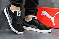 Мужские кроссовки Puma Suede черные 2886