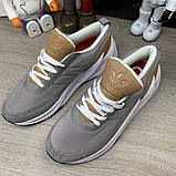 Adidas Sharks Brown Grey White ум, фото 2