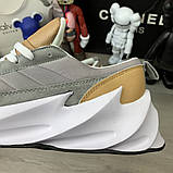 Adidas Sharks Brown Grey White ум, фото 7