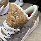 Adidas Sharks Brown Grey White ум, фото 9