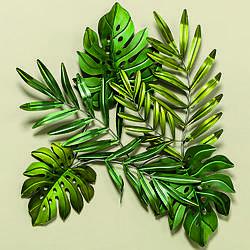 Настенный декор Листья l80см