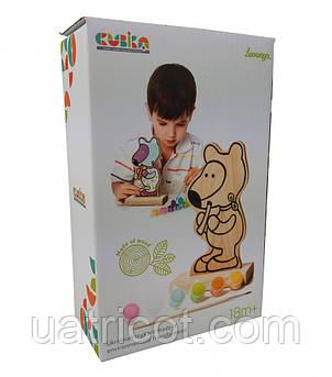 Игра-раскраска CUBIKA Мишка с красками 13852