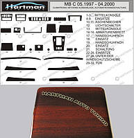 Mercedes C-Klass W202 АКЦИЯ! Накладки на панель под дерево (1997-2000)