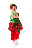 Детский карнавальный костюм для девочки «Калинка-малинка» 100-110 см, красный
