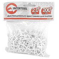 Набор дистанционных крестиков для плитки 2.0мм/200шт INTERTOOL HT-0351