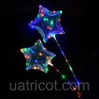 Шарики надувные MK 2075-1 Звезда с подсветкой Прозрачный