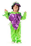 Детский карнавальный костюм для детей «Виноград» 110-120 см, фиолетовый с зеленым, фото 1