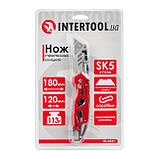 Нож строительный складной с трапециевидным лезвием, SK5, алюминиевая рукоятка, карабин INTERTOOL HT-0531, фото 2