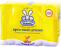 """Дитячий крем-мило Ушастый нянь """"Оливкова олія і ромашка"""" экопак (4*100г.)"""
