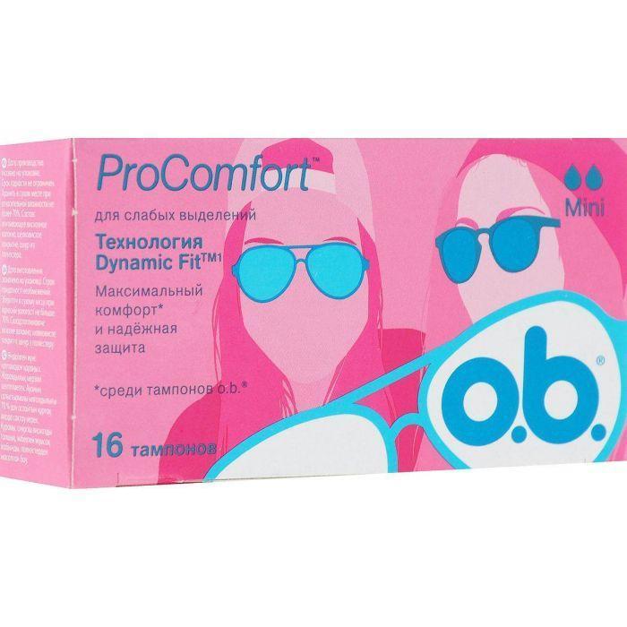 Тампоны O.B. ProComfort, 2 капли (16шт.)