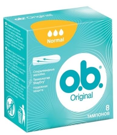 Тампоны O.B. Original, 3 капли (8шт.)