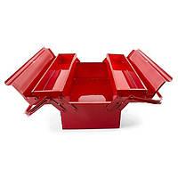 Ящик инструментальный металлический 450мм 3 секции INTERTOOL HT-5043